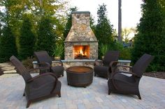 Outdoor Fireplace Hearth Outdoor Fireplace Turftenders Landscape Services Raleigh, NC