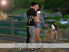 Downloaded Sims 4 Updates: Sims Fans - Poses : Couple poses 01 by Siciliaforever, Custom Content Download!