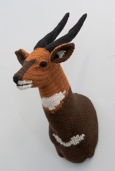 Nathan Vincent - crochet animal trophies