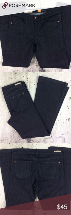 """Anthropologie pilcro and the letter press flare Anthropologie pilcro and the letter press flare jeans cotton polyester and spandex blend inseam 32"""" rise 9.5"""" Anthropologie Jeans Flare & Wide Leg"""
