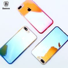 Find More Phone Bags & Cases Information about Baseus Luxury Aurora Transparent Glaze Case Ultrathin Clear Gradient PC Back Cover for iPhone 7 Plus 5.5 inch Mobile Phone Case,High Quality mobile phone cases,China phone cases Suppliers, Cheap for iphone from UNIFISH Store on Aliexpress.com