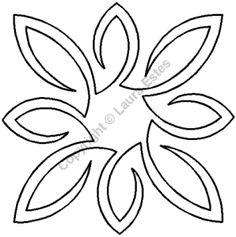 "Quilting Stencils > Floral & Leaf Block - Item: 5"" on QuiltingCreations.com"