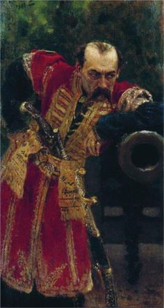 Iliya Repin - Zaporizhian colonel, 1880