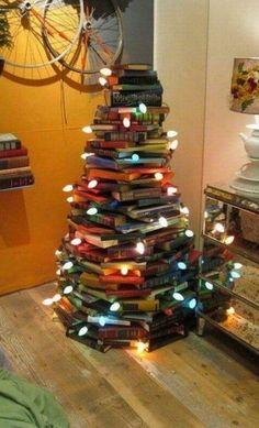 Arvore de natal de livros