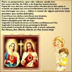 crianças rezando