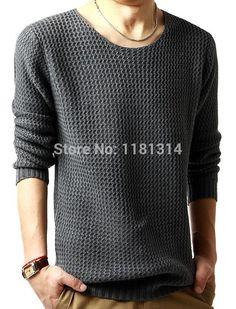 free shipping Winter Men's loose knit sweater coat sweater jacket outerwear size l-3xl