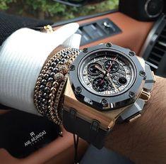 Audemars Piguet Gold, Audemars Piguet Diver, Audemars Piguet Watches, Amazing Watches, Beautiful Watches, Cool Watches, Rolex Watches, Cool Mens Bracelets, How To Wear Rings
