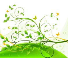 Graphic Design Backgrounds   Green Floral Background   Free Vector Graphics   All Free Web ...