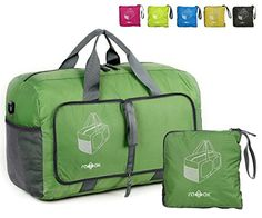 Travel Duffel Bag Foldable Green -- Click image to review more details.