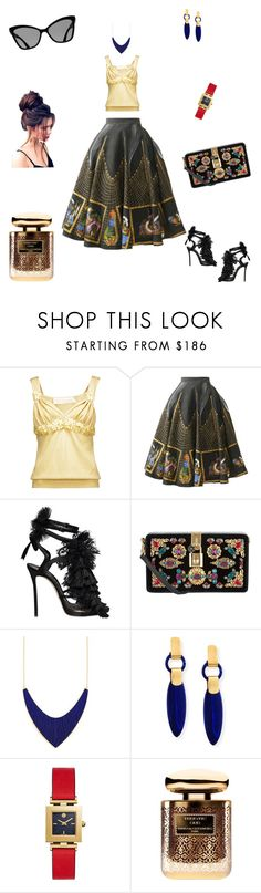 """Untitled #16"" by anastasiahag ❤ liked on Polyvore featuring Valentino, Dsquared2, Dolce&Gabbana, Lisa Eisner, Tory Burch and By Terry"