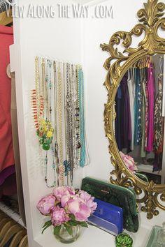 42 Brilliant Ideas To Make Your Home Really Freaking Organized 42 Brilliant Ide… – Kallax Ideas 2020 Glam Closet, Closet Rod, Master Closet, Closet Storage, Closet Wall, Storage Hooks, Wardrobe Storage, Master Bedroom, Letter Sorter