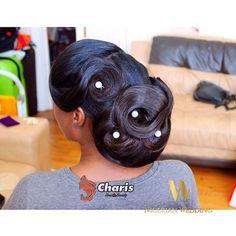 Nigerian wedding black bridal hair ideas and inspiration 15