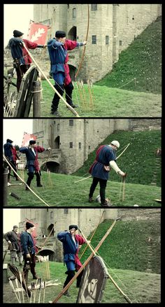 Archers Medieval re-enactment @ Warwick castle
