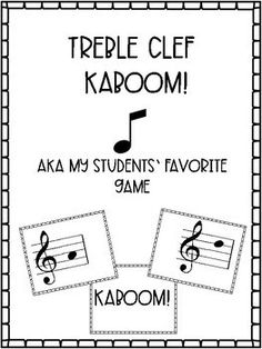 Treble Clef Kaboom for Elementary Music Centers by Becca's Music Room Elementary Choir, Elementary Music Lessons, Piano Lessons, Teaching 5th Grade, Teaching Music, Learning Piano, Teaching Resources, Teaching Ideas, Music Lesson Plans