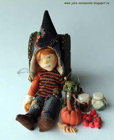 Miniature Dollhouse Gnome Boy OOAK Head + Obitsu body + OOAK Outfit 12th Scale