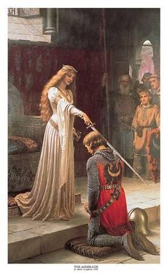 Art Print: The Accolade by Edmund Blair Leighton : 37x22in