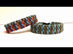 Cross Hitch Paracord Bracelet (2 core strands) - YouTube