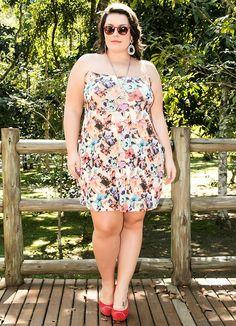 Vestido com Tule Invisível Bege Miss Masy Plus - BGO Company