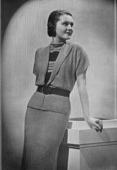 The Vintage Pattern Files: 1930's Knitting & Crochet - Lily Mills Fashion Patterns