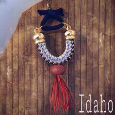 IDAHO shoulder duster earrings. Natural raffia handmade beads paracord t-shirt yarn. NOW AVAILABLE ONLINE! #handmadejewelry #waternymphjewelry #waternymph #handmade #polymerclay #evencowgirlsgettheblues #handmadebeads #hippie #upcycled #jewelryaddict #shoulderdusters #statementjewelry #uniquejewelry #moderngypsy #ecofashion #indiejewelry #raffia #wildwest #horsebackriding #earringsoftheday #jewelrydesign #ethicalfashion #emergingdesigners #oneofakindjewelry  #wearableart #boho #boholuxe…