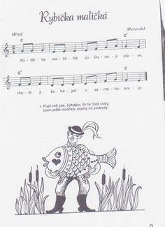 Rybička malička Kindergarten Songs, Diy And Crafts, Education, School, Music, Movie Posters, Musica, Musik, Film Poster
