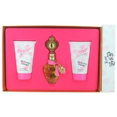 Juicy Couture Set (Eau De Parfum Spray and Body Lotion and Shower Gel) Perfume Gift Sets, Perfume Fragrance, Fragrances, Alien Perfume, Couture Perfume, Discount Perfume, Thing 1, Gift Sets For Women, Parfum Spray