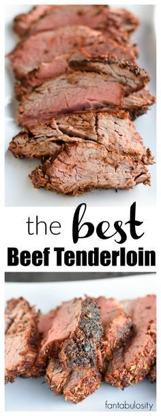 This is the BEST Beef Tenderloin Recipe and meat rub recipe around! This is the BEST Beef Tenderloin Recipe and meat rub recipe around! Best Beef Tenderloin Recipe, Grilled Beef Tenderloin, Perfect Beef Tenderloin, Cooking Beef Tenderloin, Rub Recipes, Meat Recipes, Cooking Recipes, Oven Recipes, Smoker Recipes