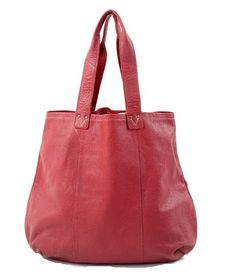 SOFT LEATHER RED WOMEN'S TOTE