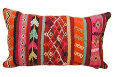 Vibrant   Wool Moroccan Pillow