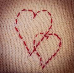 Cute heart shaped stitching