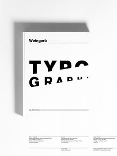 Weingart Lecture Poster