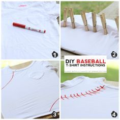 Sunny with a Chance of Sprinkles: DIY Baseball T-shirt