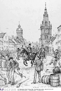 Original View of Bread Riots, Trongate (Glasgow) 1848 © SCRAN