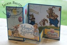 The Birthday Memories Suite has the Birthday Delivery stamp set, Birthday Friends dies and Birthday Memories paper.
