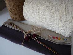 Trousse aiguilles à tricoter