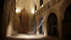 Caten . 2012 Kinetic sound installation by David Letellier www.davidletellier.net  Created for the Saint Sauveur chapel in Caen, Caten is a levitating sculpture,…