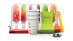Popsicle Making Kit  By Zoku  This award-winning gadget lets you make tasty ice pops in a mere seven minutes, right on your counter top, with no electricity needed.  From $ 52 ~ I chose this pic because it shows off how pretty the popsicles you make can be.  The down side of this gadget is that it appears to only make three at a time.