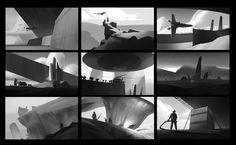 ArtStation - B/W composition studies, Simeon Schaffner
