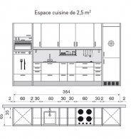 Plan de cuisine linéaire - Marie Claire Maison