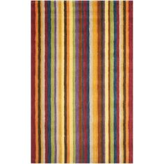 Safavieh Handmade Himalayan Gabeh Stripe Wool Rug | Overstock.com Shopping - The Best Deals on 7x9 - 10x14 Rugs