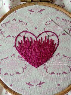 bordar un corazón