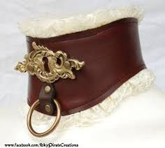 Image result for leather steampunk collar