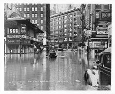 1936 FLOOD, 5th Ave. & Market - PITTSBURGH, (photo Western Pennsylvania Historical Society)