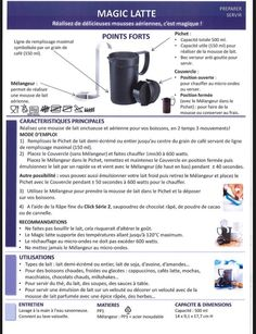 Fiche Tupperware: Magic Latte Latte, Tupperware Recipes, Chartreuse, Macarons, Snacks, Coffee, Cooking, Kitchen, Desserts