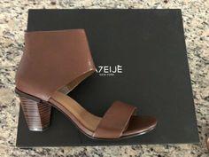38533ab2101d ATELJE Women Brown camel leather sandals heels SIZE 8 NEW W BOX