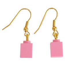 Light Pink LEGO R brick 1x1 on a Silver/Gold by MademoiselleAlma #MademoiselleAlma #LEGO #ETSY