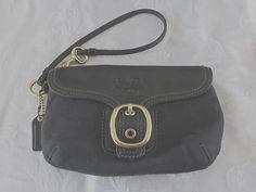Vintage Coach Wristlet Handbag Purse by VintageVogueTreasure