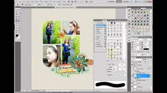 Creatively using Brushes for Digital Scrapbooking