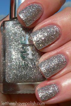 England glittery polish
