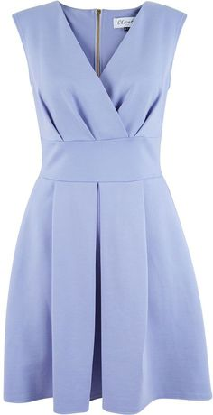 Closet Cross Over Box Pleat Dress
